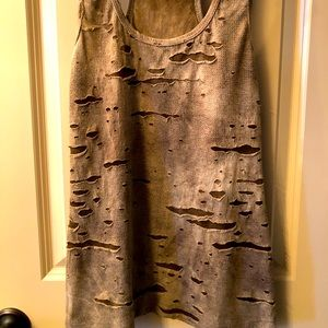 Army Colored Ripped Racer Tank